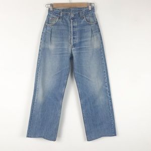 Levi's Vintage Pleated Crop Flare Jeans